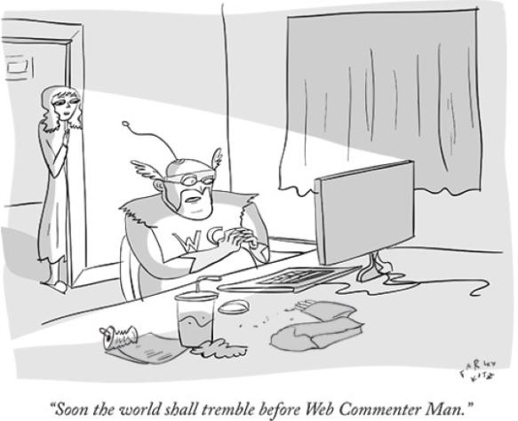 web commenter dude