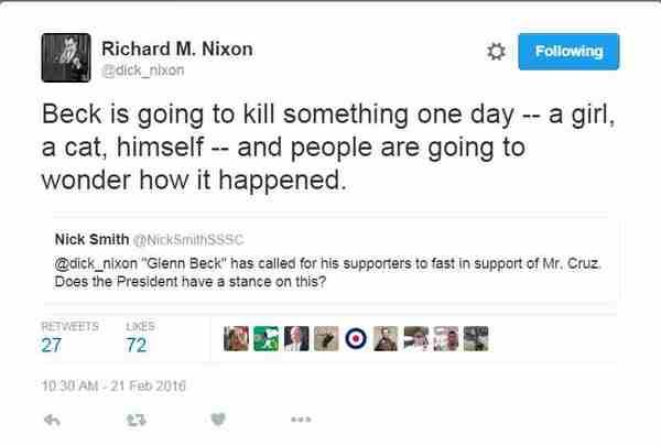 Nixon tweets